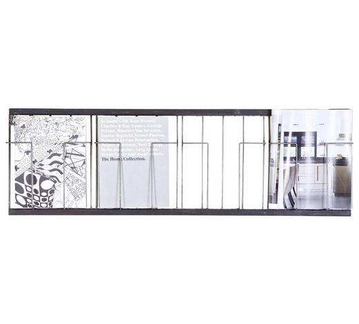 WANDREGAL - Schwarz, Design, Metall (103,5/32/5,5cm) - Ambia Home