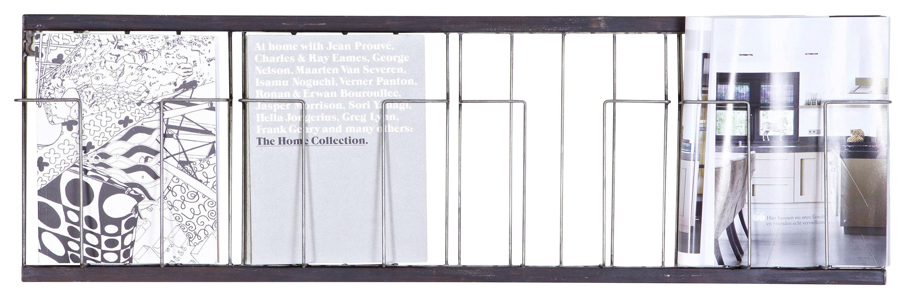 WANDREGAL - Schwarz, MODERN, Metall (103,5/32/5,5cm) - Ambia Home