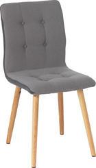 ŽIDLE - světle šedá/tmavě šedá, Konvenční, dřevo/textil (42/88/56cm) - CARRYHOME
