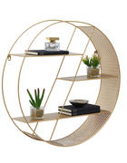 WANDREGAL Goldfarben  - Goldfarben, Design, Metall (60/15cm) - Carryhome