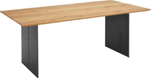 ESSTISCH in Holz, Metall 240/100/77 cm - Eichefarben/Grau, Design, Holz/Metall (240/100/77cm) - Bert Plantagie
