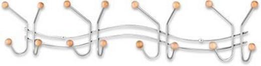 WANDGARDEROBE Buche massiv Alufarben, Buchefarben - Buchefarben/Alufarben, Design, Holz/Metall (64/12/5cm) - Carryhome