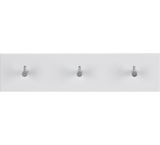 GARDEROBA ZIDNA   bijela, boje kroma  metal, drvni materijal  - bijela/boje kroma, Design, drvni materijal/metal (34/5/8cm)