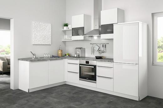 Eckküche ohne E-Geräte - Weiß, Design (185/285cm) - Set one by Musterrin