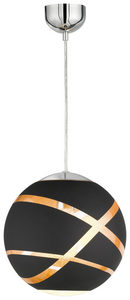 TAKLAMPA - kromfärg/svart, Lifestyle, metall/glas (30,0/150,0cm)