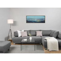 ÖLGEMÄLDE - Silberfarben/Multicolor, Basics, Holz/Textil (150/50cm) - Monee