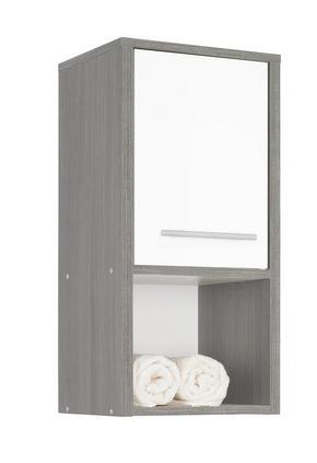VÄGGHÄNGT SKÅP - vit/alufärgad, Design, träbaserade material/plast (32/68/28cm) - Low Price