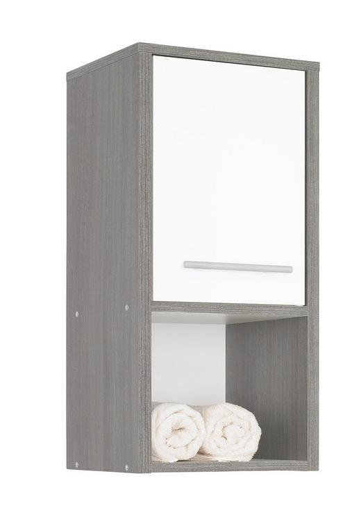 VÄGGHÄNGT SKÅP - vit/alufärgad, Design, träbaserade material/plast (32/68/28cm) - XORA
