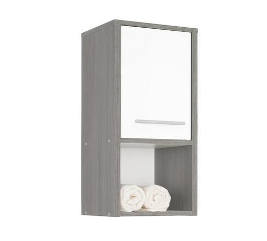 ZÁVĚSNÁ SKŘÍŇKA - bílá/barvy grafitu, Design, kompozitní dřevo/umělá hmota (32/68/28cm) - Xora