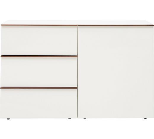 SIDEBOARD furniert lackiert Weiß, Eichefarben  - Eichefarben/Schwarz, Design, Holzwerkstoff/Kunststoff (130/80/44cm) - Dieter Knoll