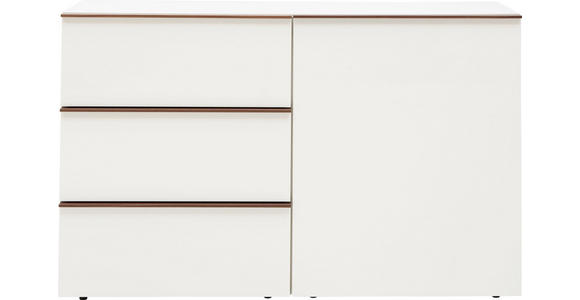 SIDEBOARD 130/80/44 cm - Eichefarben/Weiß, Design, Holzwerkstoff (130/80/44cm) - Dieter Knoll