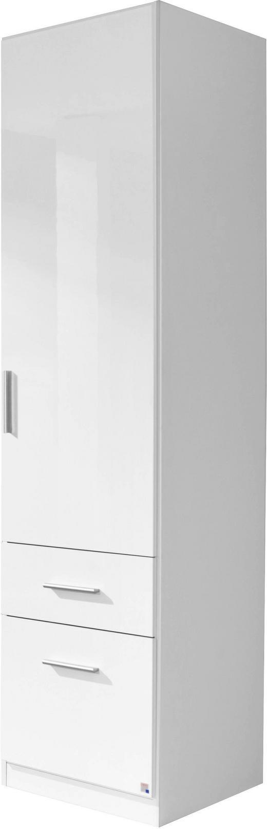 KLEIDERSCHRANK 1-türig Weiß - Alufarben/Weiß, KONVENTIONELL, Kunststoff (47/197/54cm) - Carryhome
