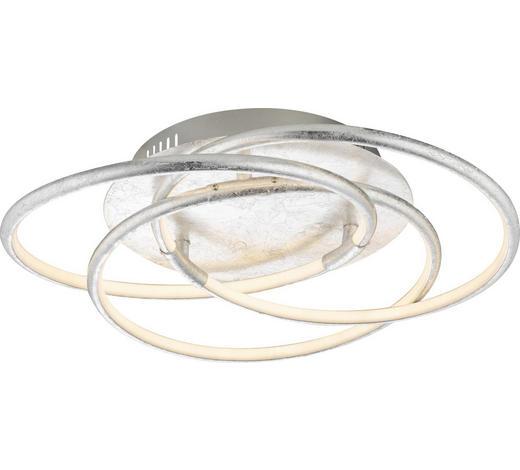 LED-DECKENLEUCHTE   - Silberfarben, Design, Kunststoff/Metall (50/14cm)