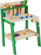 KINDERWERKBANK - Naturfarben/Grün, Natur, Holz (45,6/37/64cm) - My Baby Lou