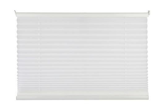 PLISSEE  halbtransparent   90/130 cm - Weiß, Basics, Textil (90/130cm) - Homeware