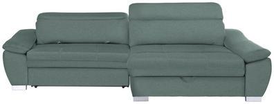 WOHNLANDSCHAFT in Textil Mintgrün  - Silberfarben/Mintgrün, MODERN, Kunststoff/Textil (270/175cm) - Carryhome
