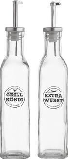 Essig-/Ölflaschenset 2-teilig - Klar, Basics, Glas (5/25/5cm) - Ambia Home