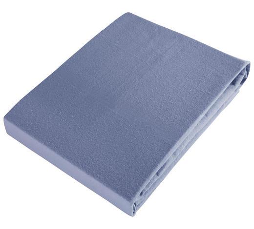 PROSTĚRADLO NAPÍNACÍ, flanel, 140/200 cm - modrá, Basics, textil (140/200cm) - Esposa