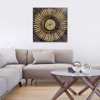 Abstraktes, Ornamente ORIGINALBILD - Multicolor, Basics, Holz/Textil (80/80/3,80cm) - EUROGRAPHICS