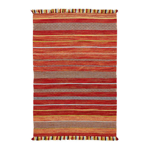 FLACHWEBETEPPICH  160/230 cm  Gelb, Multicolor, Orange, Rot - Gelb/Rot, LIFESTYLE, Textil (160/230cm)