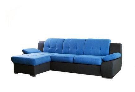 GARNITURA ZA DNEVNU SOBU - Siva/Plava, Moderno, Tekstil/Plastika (165/263cm) - Xora