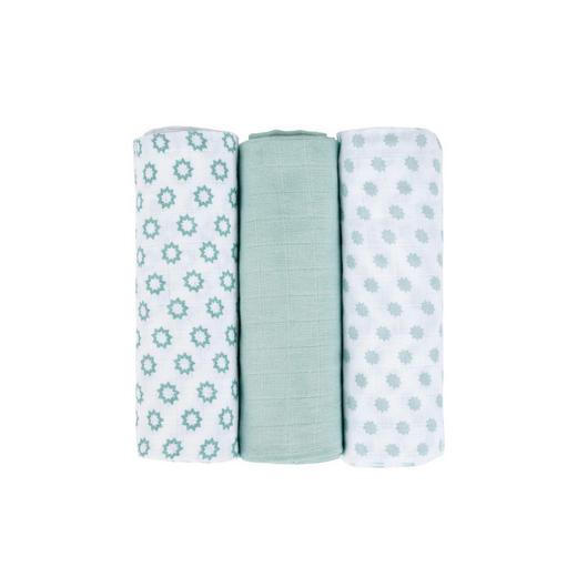 WICKELTUCH - Weiß/Mintgrün, Basics, Textil (85/0/85cm) - Lässig
