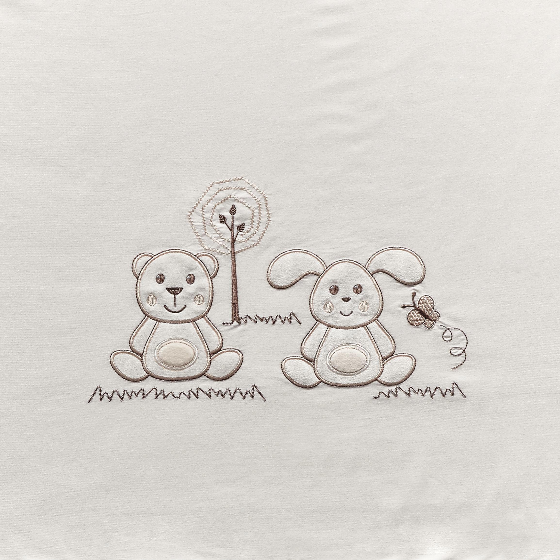 GITTERBETTSET - Creme/Naturfarben, Basics, Textil - MY BABY LOU