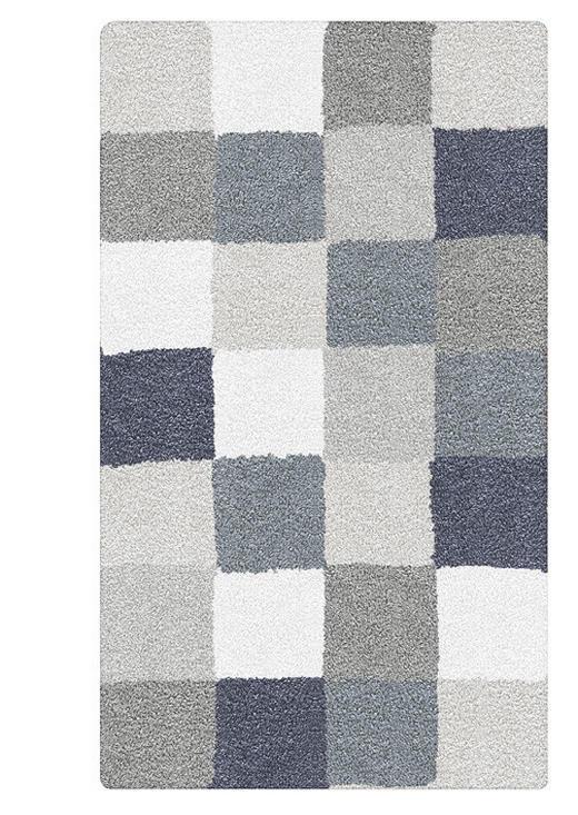 BADTEPPICH  Anthrazit, Grau, Hellblau  60/105 cm - Anthrazit/Grau, Basics, Kunststoff/Textil (60/105cm) - KLEINE WOLKE