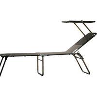 DREIBEINLIEGE Aluminium Taupe, Alufarben  - Taupe/Alufarben, Design, Textil/Metall (58/42/190cm) - Jan Kurtz