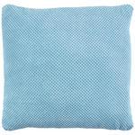 Zierkissen Floreta - Türkis, MODERN, Textil (45/45cm) - Luca Bessoni