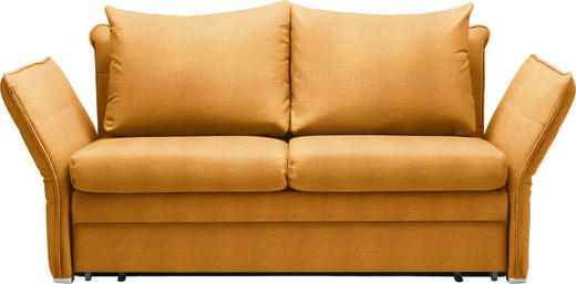 SCHLAFSOFA Orange - Chromfarben/Orange, KONVENTIONELL, Textil/Metall (213/88/91cm) - Novel