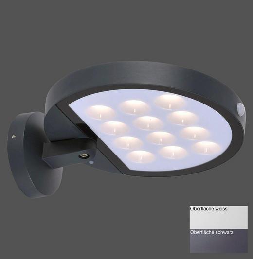 LED-WANDLEUCHTE - Anthrazit, Design, Kunststoff (29/25/11cm)