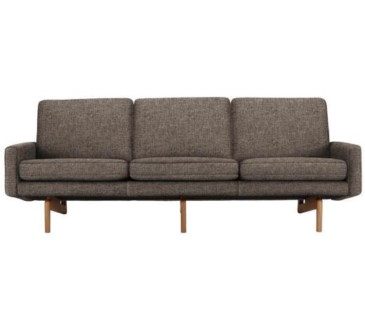 DREISITZER-SOFA in Textil Braun - Braun, Design, Holz/Textil (216/76/76cm)