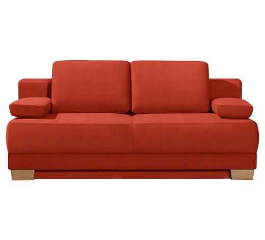 SCHLAFSOFA Rot  - Eichefarben/Rot, KONVENTIONELL, Holz/Textil (200/95/101cm) - Livetastic