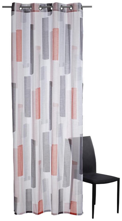 ÖSENSCHAL  transparent   140/250 cm - Orange/Weiß, Textil (140/250cm) - Schöner Wohnen