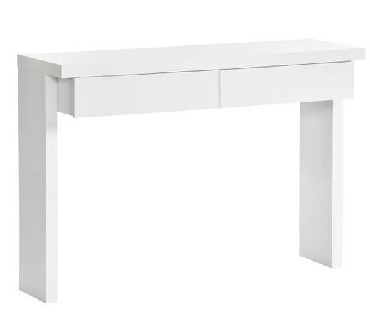 STOL KONZOLA - bijela, Design, drvni materijal (120/83/40cm) - Xora