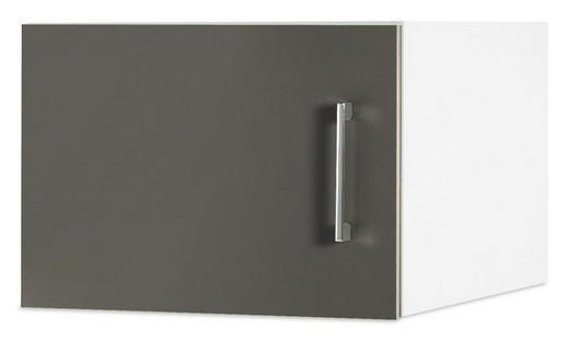 AUFSATZSCHRANK 45/32/57 cm Grau, Weiß - Chromfarben/Weiß, Design, Metall (45/32/57cm) - CARRYHOME