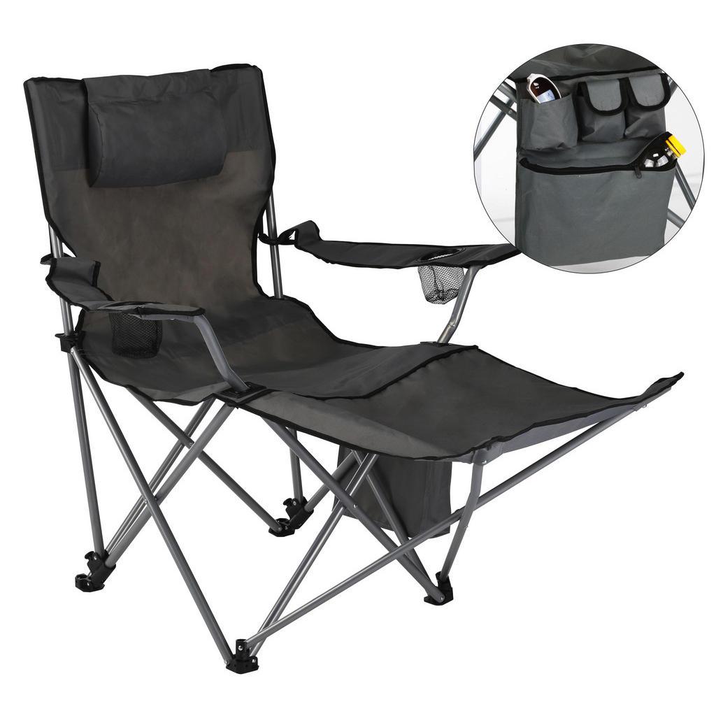 XXXL CAMPING-KLAPPSTUHL, Grau | Baumarkt > Camping und Zubehör > Campingmöbel | Textil | XXXL Shop