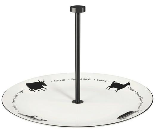 ETAGERE - Schwarz/Weiß, Design, Keramik/Metall (30cm) - ASA