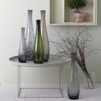 VASE 40 cm - Grau, Design, Glas (40cm) - Leonardo