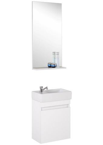 KOUPELNA, bílá - bílá, Design, kompozitní dřevo/sklo (43/26cm) - Xora