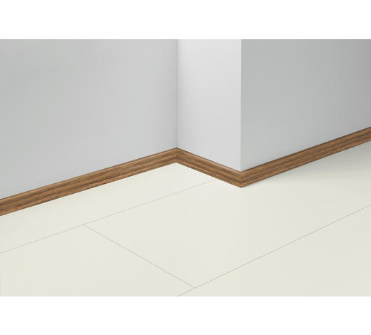 SOCKELLEISTE Braun, Nussbaumfarben, Rotbraun - Rotbraun/Nussbaumfarben, Basics, Holzwerkstoff (257/1,6/4cm) - Parador