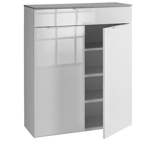 OMARA ZA ČEVLJE antracit, bela - bela/antracit, Design, kovina/leseni material (90/108/35cm) - Voleo