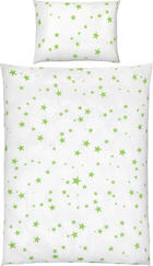 POSTELJNINA ZA DOJENČKE ZVEZDA - bela/zelena, Basics, tekstil (100/135cm) - My Baby Lou