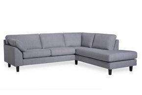 SOFFA - ljusgrå/svart, Design, metall/trä (250/84/222cm) - Hom`in