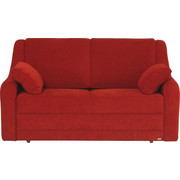 SCHLAFSOFA in Textil Rot - Rot/Schwarz, KONVENTIONELL, Kunststoff/Textil (158/88/91cm) - Sedda