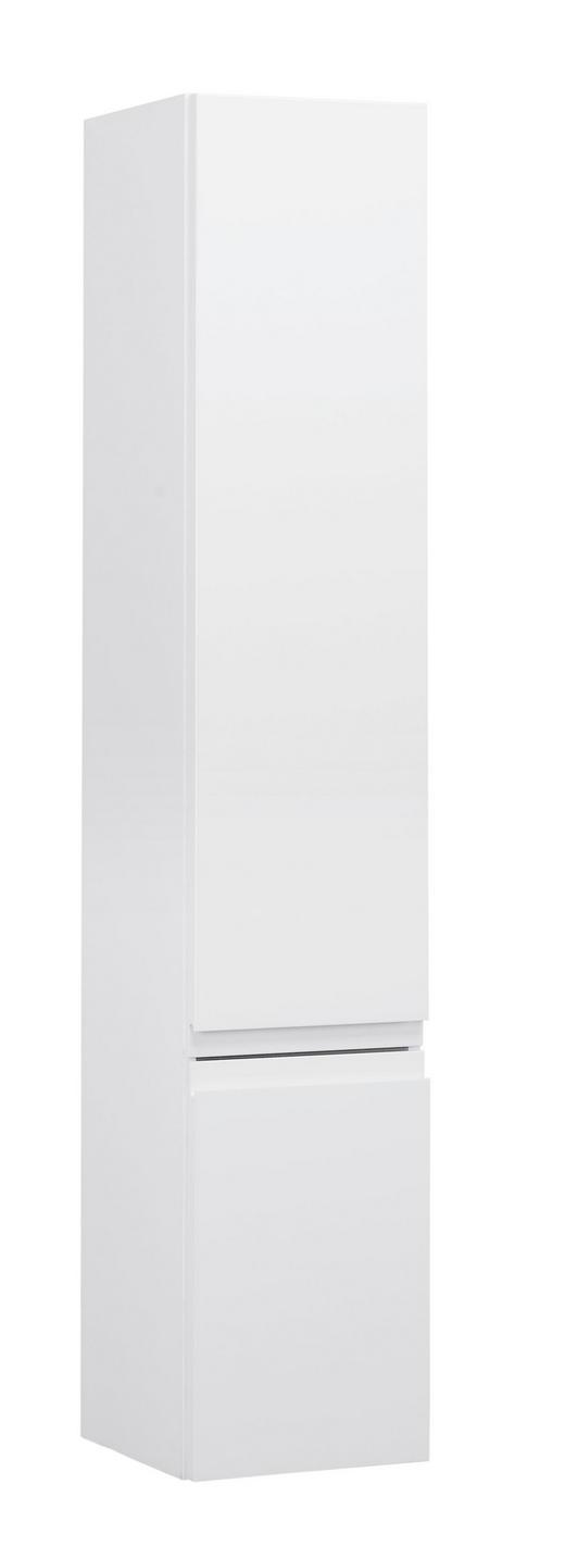 HOCHSCHRANK 30/160/32 cm - Weiß, Design, Glas/Holzwerkstoff (30/160/32cm)