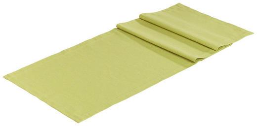 TISCHLÄUFER Textil Leinwand, Struktur Grün 40/150 cm - Grün, Basics, Textil (40/150cm) - Novel