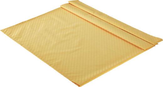 TISCHDECKE Textil Jacquard Gelb 135/220 cm - Gelb, Basics, Textil (135/220cm)