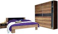 SPALNICA, rjava, oreh - oreh/rjava, Design, leseni material (180/200cm) - Xora